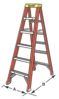 Where to rent LADDER, STEP 12  - FIBERGLASS in Washington IN
